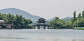 Remote view of a bridge crossing the West Lake near -Lotus in the Breeze- 20120529 1.jpg