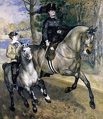 Riding in the bois de Boulogne