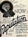 Reputation (1921) - Film Daily Ad May 1 1921.jpg