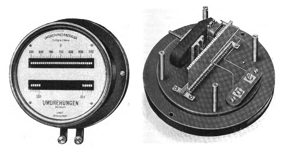 Resonant reed frequency meter
