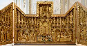 Jacques de Baerze - Image: Retable de la crucifixion Jacques de Baerze MBA Dijon