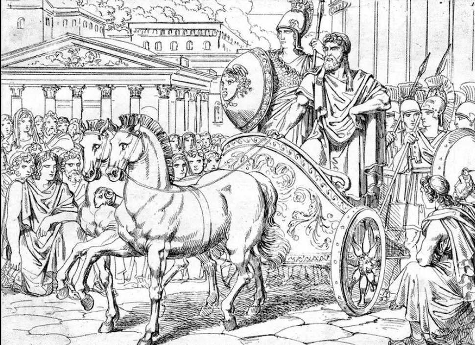 Return of Peisistratus to Athens with the false Minerva