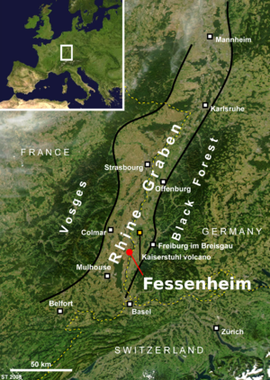 Fessenheim Nuclear Power Plant - Fessenheim's location in the Rhine Rift Valley near the fault that caused the 1356 Basel earthquake has led to safety concerns.
