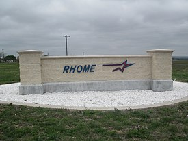Rhome, TX entry sign IMG 7060.JPG