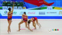 File:Rhytmic Gymnastics Group 10 Clubs final - 27th Summer Universiade 2013 - Kazan.webm