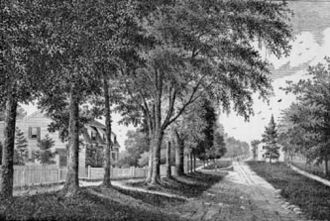 Ridgefield, Connecticut - Main Street, looking south, 1875