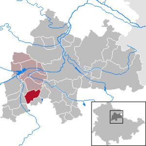 Riethnordhausen, Thuringia - Image: Riethnordhausen in SÖM