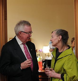 Joe Clark - Clark speaking with Progressive Conservative Senator Elaine McCoy (Alberta)