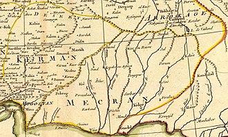 Kirman (Sasanian province) - Image: Rigobert Bonne. Perse. 1787 (J)