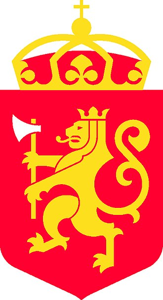 Coat of arms of Norway - Image: Riksvåpenet, tofarget