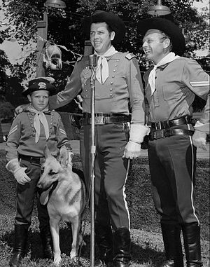 Lee Aaker - Lee Aaker with Rin Tin Tin, James Brown, and Rand Brooks