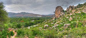 Rishi Valley School - Image: Rishi valley pano view