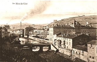 Gier (river) - Rive-de-Gier around 1900, with the Gier running through the town