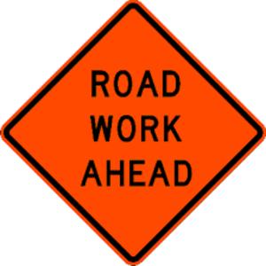 Roadworks - A typical MUTCD sign