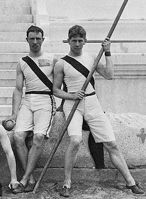 Albert Tyler (athlete) - Albert Tyler (right) at the 1896 Olympics