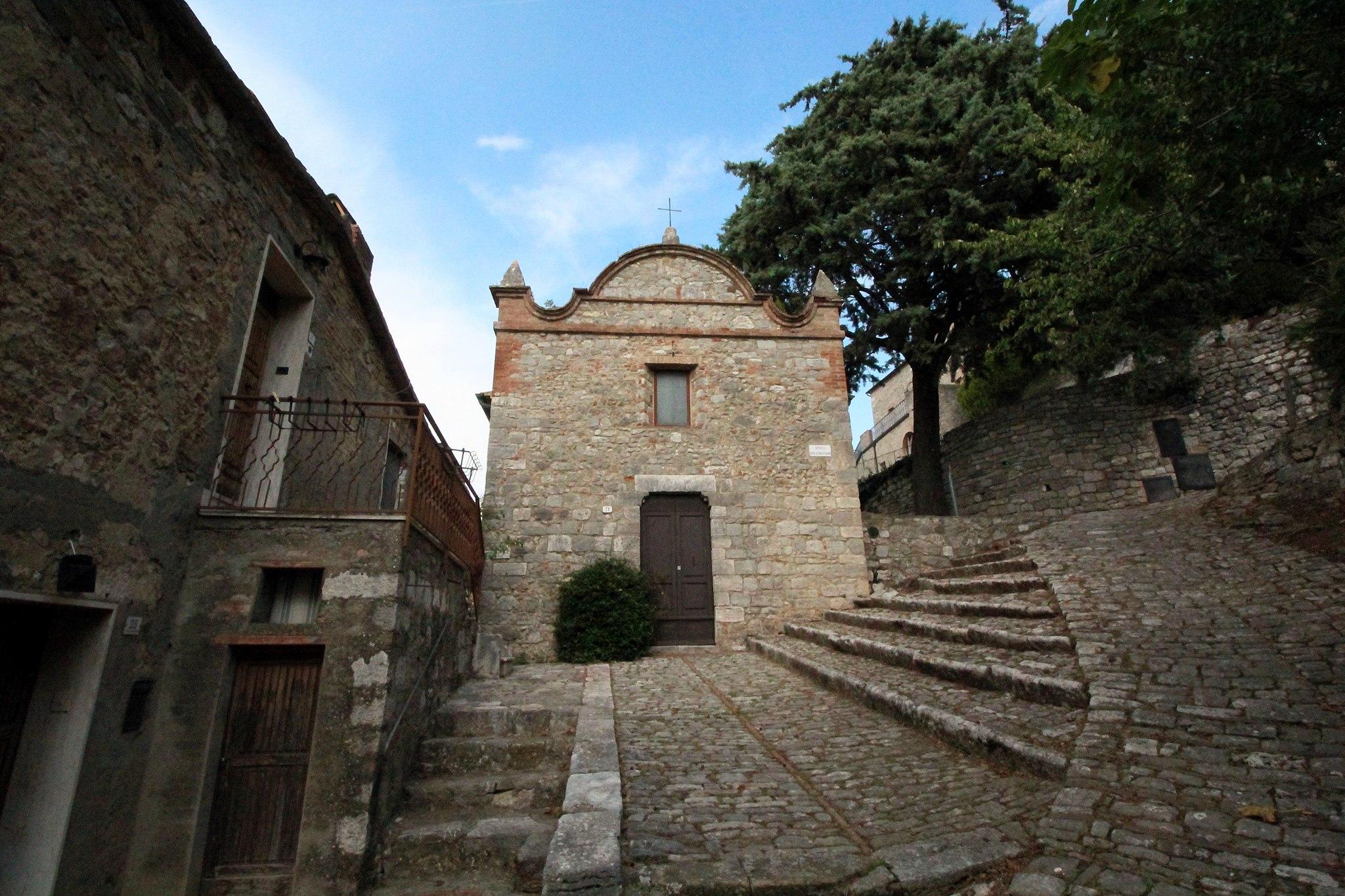 Church San Sebastiano, Rocca d'Orcia, hamlet of Castiglione d'Orcia
