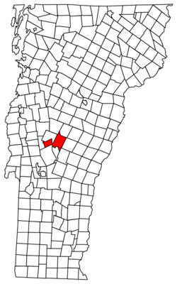 Location in Windsor County, Vermont
