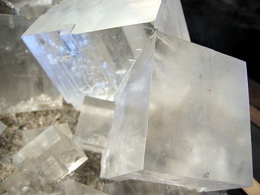 Rock salt crystal