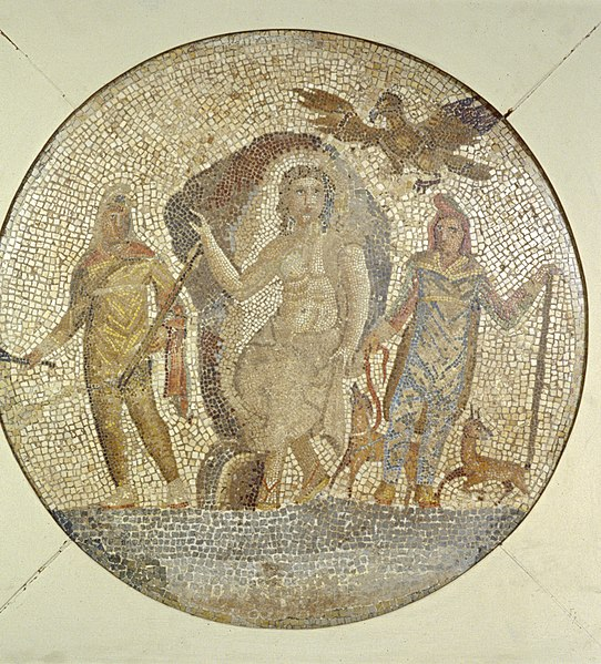 File:Roman - Fragment of a Mosaic with Mithras - Walters 437.jpg