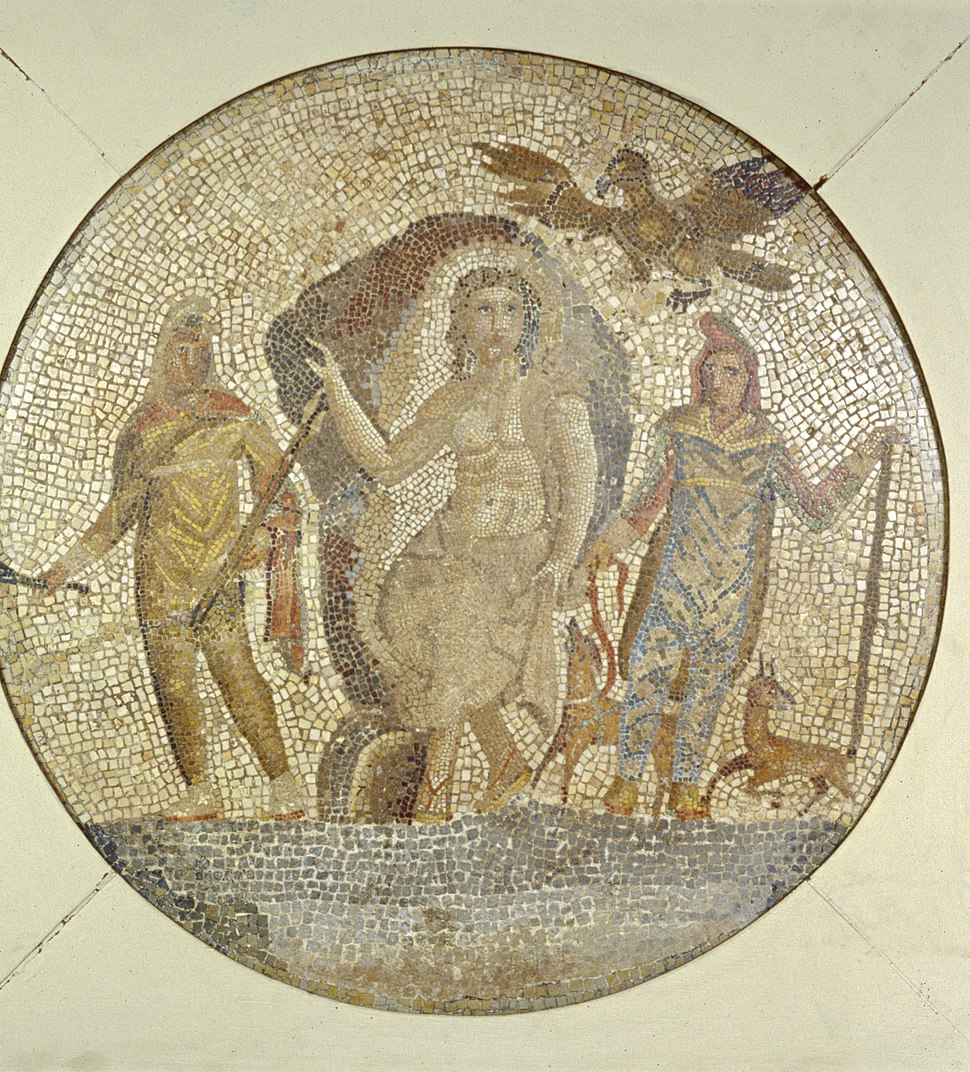 Roman - Fragment of a Mosaic with Mithras - Walters 437