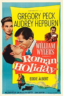 <i>Roman Holiday</i> 1953 American romantic comedy directed by William Wyler