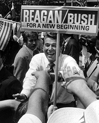 United States presidential election, 1980 - Ronald Reagan campaigning in Florida.