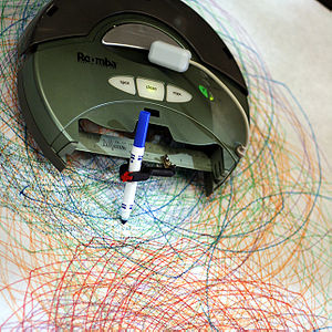 Roomba - A hacked Roomba drawing a Spirograph-like pattern