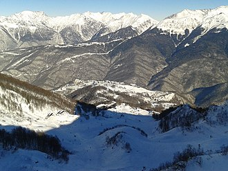 Alpine skiing at the 2014 Winter Olympics – Men's slalom - Image: Rosa Khutor 2013