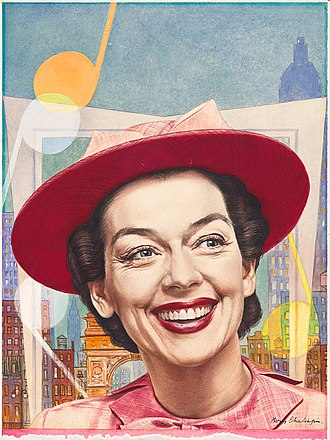 Wonderful Town - Rosalind Russell in the original Broadway production of Wonderful Town, from the cover of Time (March 30, 1953)