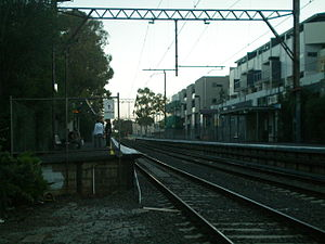 Rosanna railway station - Southbound view