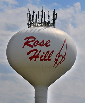 Rose Hill, Kansas - Water tower in Rose Hill (2015)
