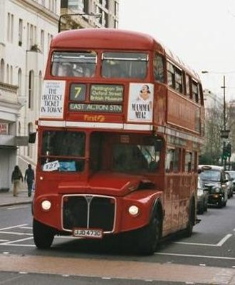London Buses route 7 - First London AEC Routemaster at Ladbroke Grove in April 2002