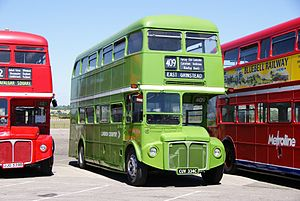 Routemaster RML2334 (CUV 334C), 2010 North Weald bus rally.jpg