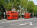 Routemasters on route 9, Kensington High Street - geograph.org.uk - 2942402.jpg