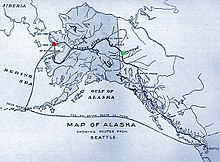 Routes from Seattle to Nome. Map from 1901