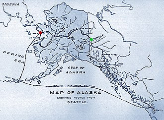 Nome Gold Rush - Routes from Seattle to Nome, 1901