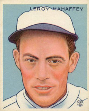 Roy Mahaffey - Roy Mahaffey 1933 Goudey baseball card