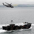Royal Navy Merlin Helicopter with Royal Marines Landing Craft During Olympics Security Exercise MOD 45154029.jpg