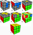 Rubik's Cube layer by layer solution overview.jpg