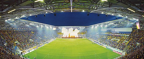 The Glucksgas Stadium, the current home of Dynamo Dresden Rudolf-Harbig-Stadion.jpg