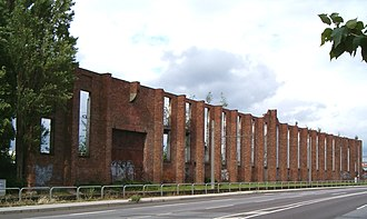Heinkel - Ruins of the Heinkel headquarters offices in Rostock/Schmarl