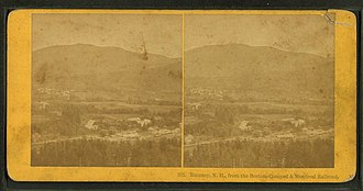 Rumney, New Hampshire - Image: Rumney, N.H., from the Boston, Concord & Montreal Rail Road, from Robert N. Dennis collection of stereoscopic views