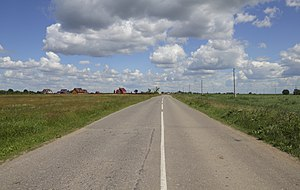 Rybnovsky District - Road between the selos of Fedyakino and Konstantinovo in Rybnovsky District