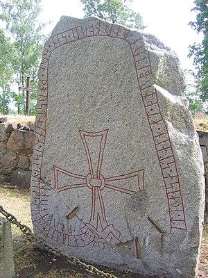 Södermanland Runic Inscription 84 - Runestone Sö 84 in Tumbo, Sweden.