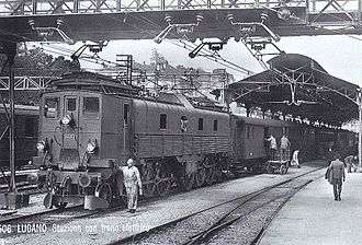 SBB-CFF-FFS Be 4/6 12303-12342 - Be 4/6 12313 in Lugano, 1925