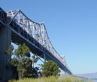 San Francisco–Oakland Bay Bridge - A double balanced cantilever bridge, five truss bridges, and two truss causeways that connected Yerba Buena Island to Oakland. Demolished in 2016.
