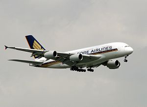 Airbus A380 från Singapore Airlines.