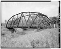 SIDE VIEW OF BRIDGE, LOOKING EAST - Bridge No. 18, Spanning Kickapoo River, La Farge, Vernon County, WI HAER WIS,62-LAFA.V,1-1.tif