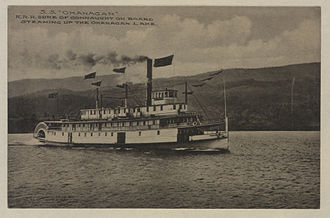 Okanagan Lake - SS Okanagan, with HRH the Duke of Connaught on board, 1912
