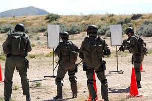 FBI Special Weapons and Tactics Teams - El Paso Field Office SWAT members in a target training exercise